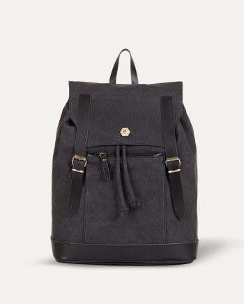 charcoal black backpack