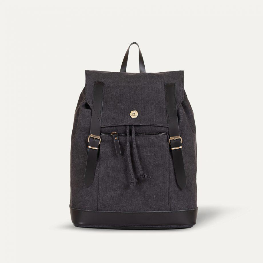 charcoal black backpack